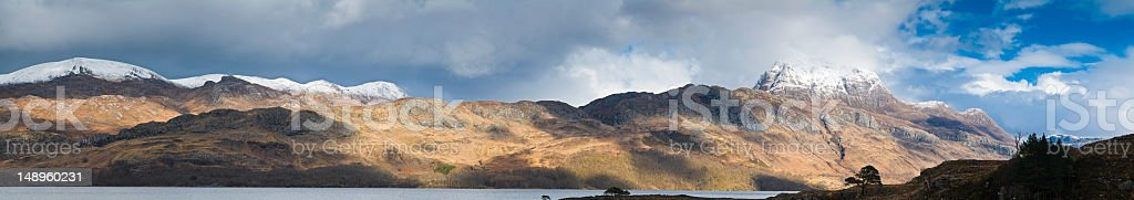Scotland Loch Maree wild Highlands stock photo