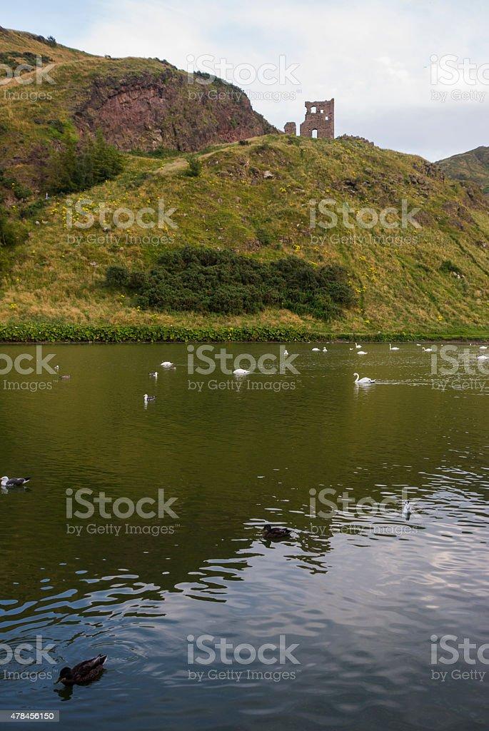 Scotland - Loch on Arthur Seat stock photo