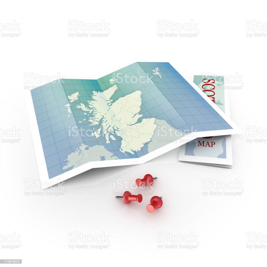 scotland map royalty-free stock photo