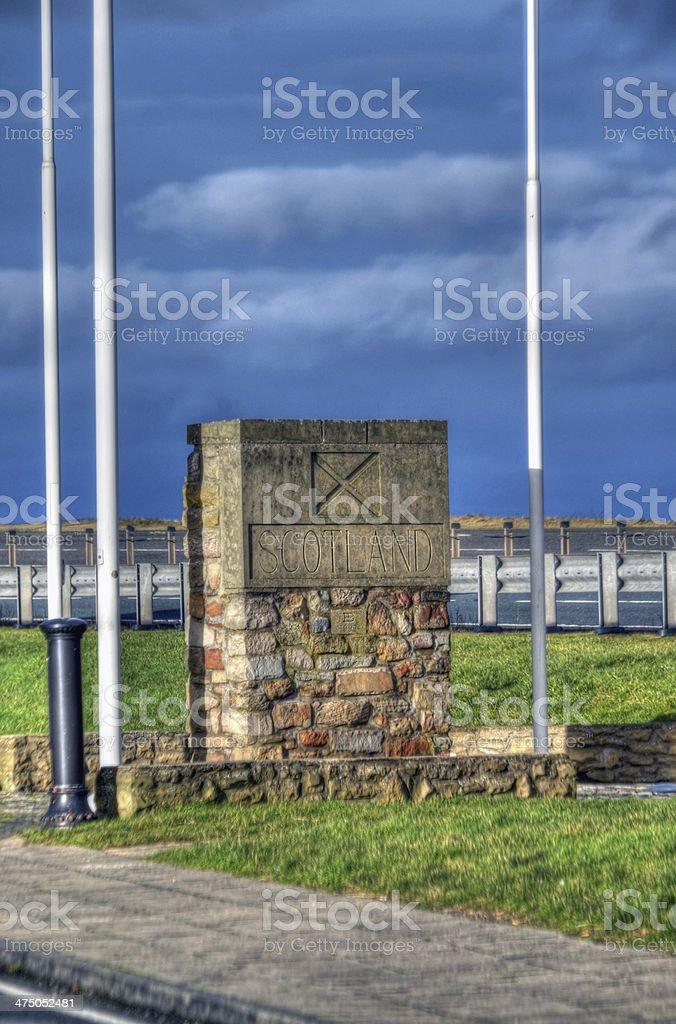 Scotland National Border stock photo