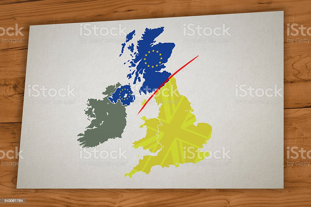 Scotland Referendum - Scotland leaves UK after Brexit stock photo