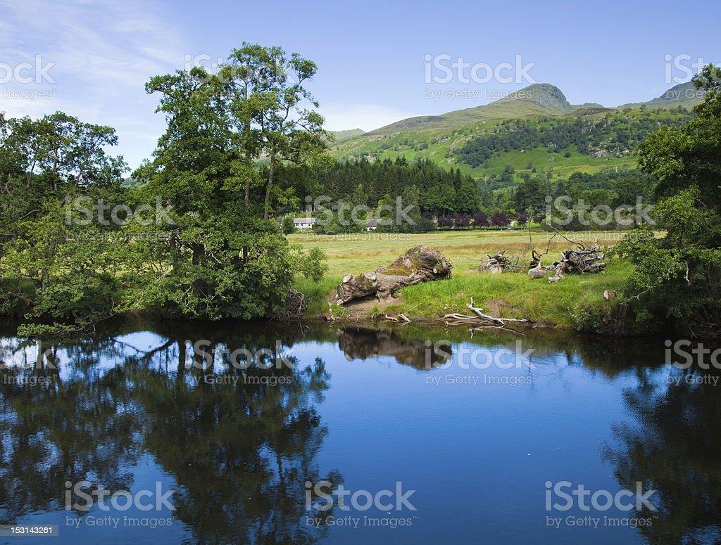 Scotland, summer landscape stock photo