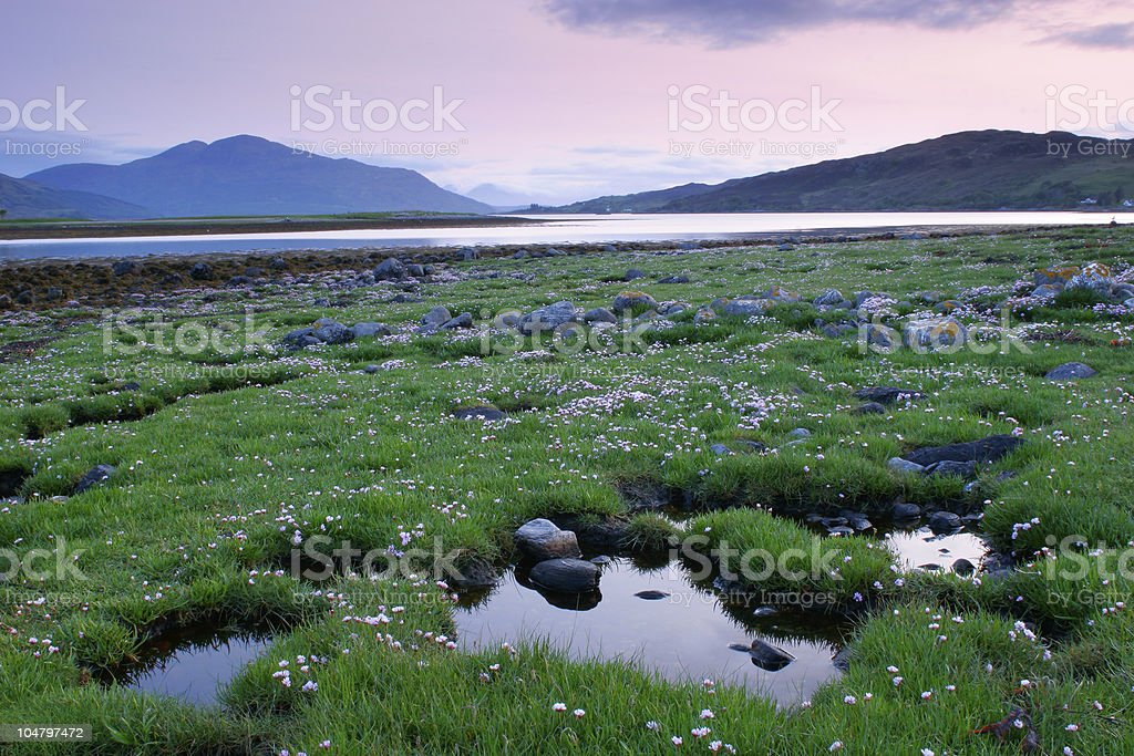 Scotland Sunset royalty-free stock photo