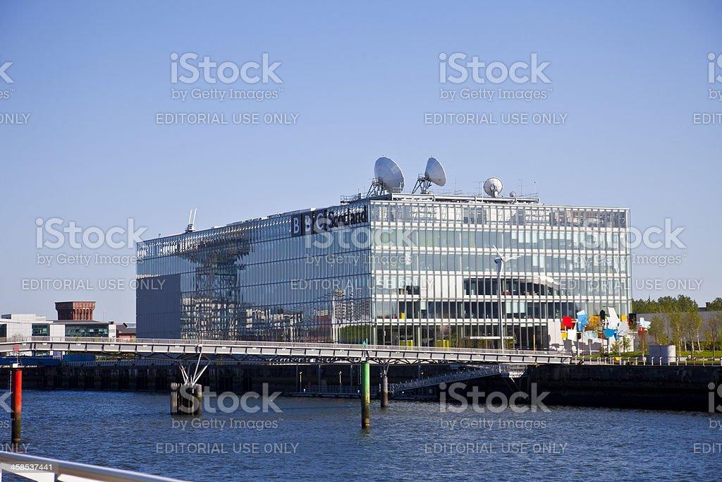 BBC Scotland Television Centre, Pacific Quay, Glasgow stock photo