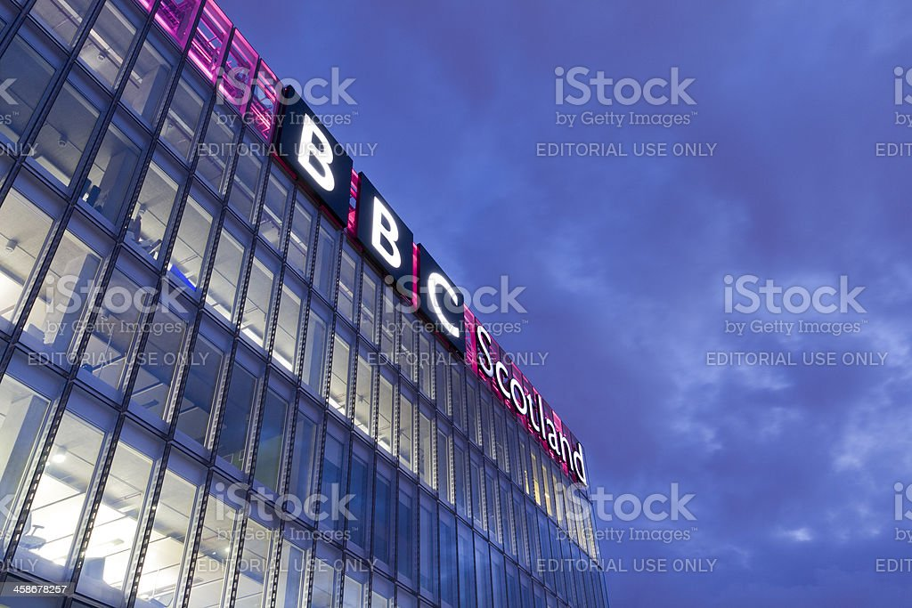 BBC Scotland Television Studios. stock photo
