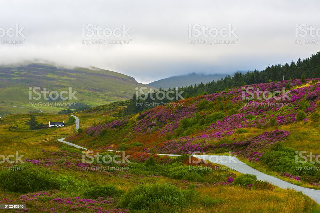 Scotland valley stock photo