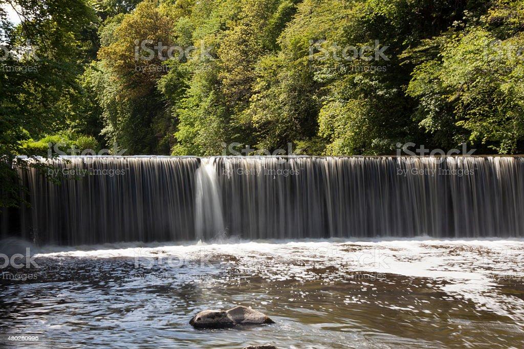 Scotland - Waterfall at Cramond stock photo