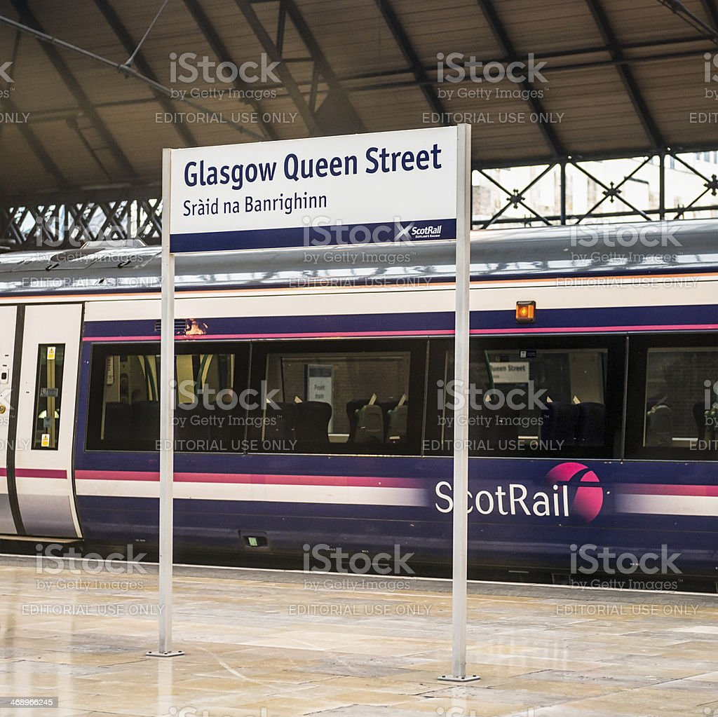 Scotrail Train at Glasgow Queen Street Station royalty-free stock photo