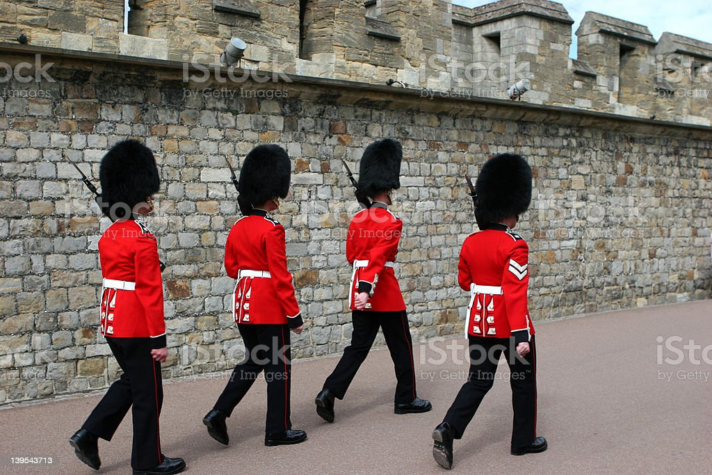 Scots Guards royalty-free stock photo