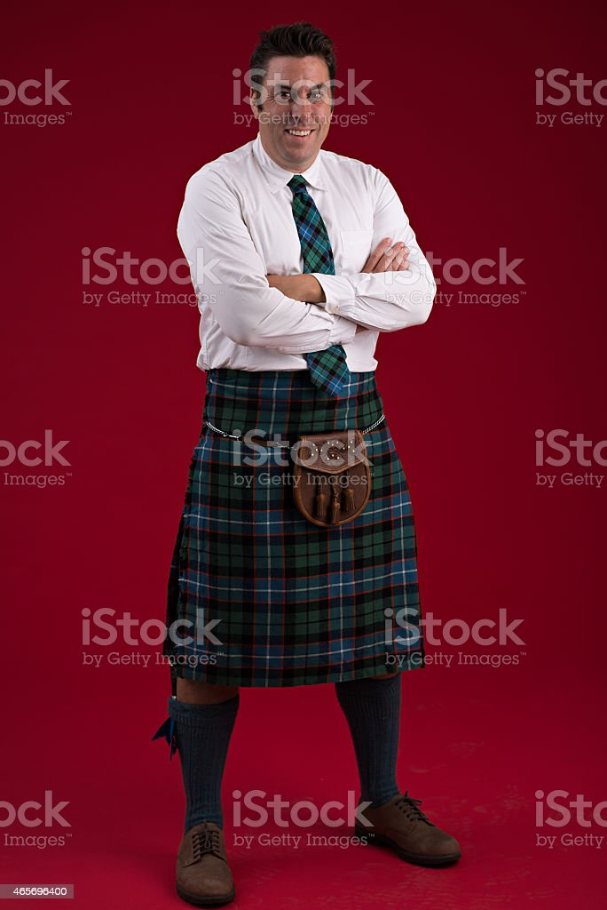 Scotsman in traditional costume stock photo