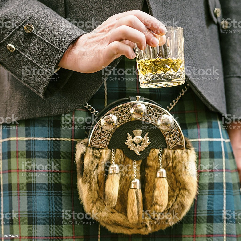 Scotsman with Whisky stock photo