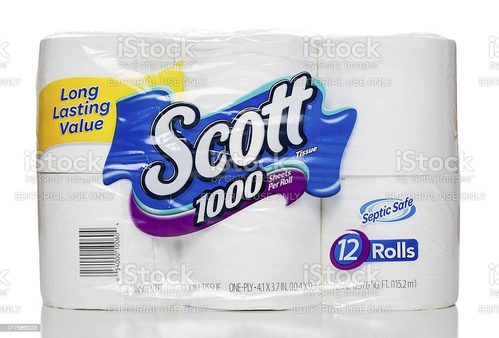 Scott 1000 bath tissue package stock photo