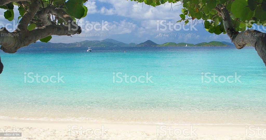 Scott Beach in Caneel Bay, St.John, US Virgin Islands stock photo
