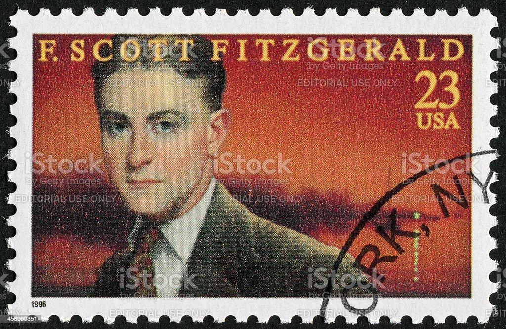 F. Scott Fitzgerald Stamp royalty-free stock photo