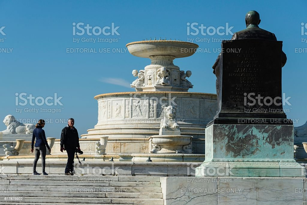 Scott Fountain, Belle Isle, Detroit stock photo