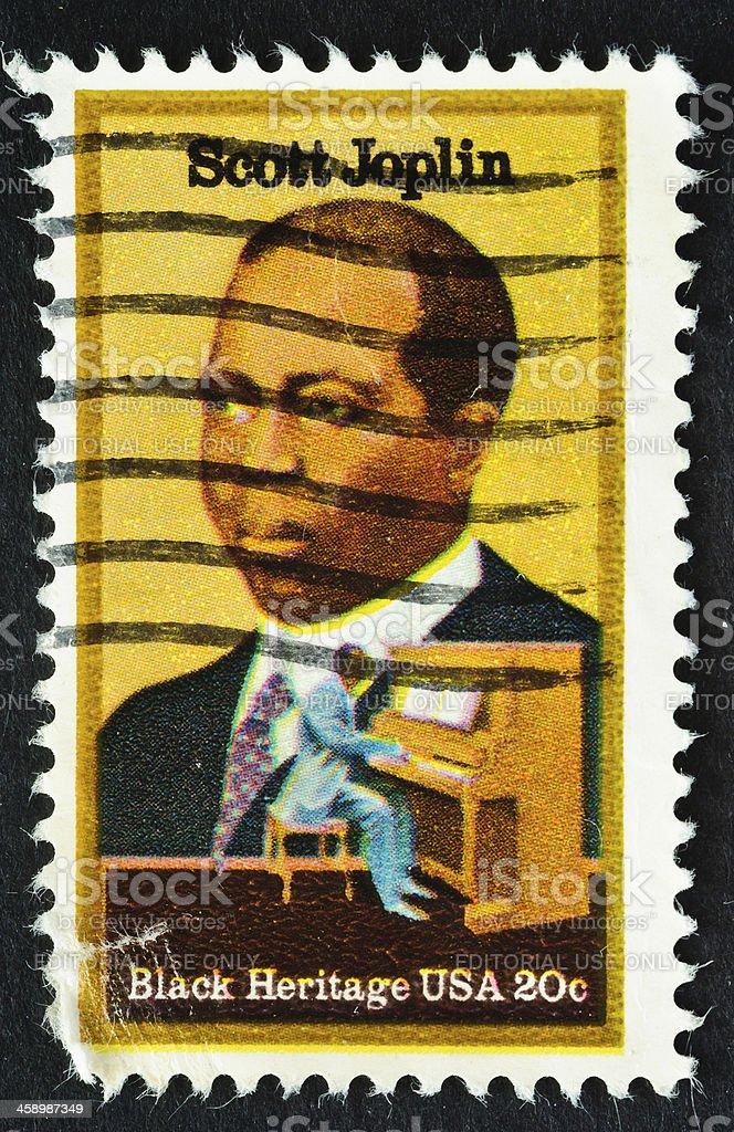 Scott Joplin Stamp stock photo