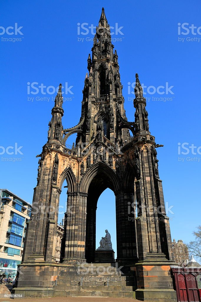 Scott Monument, Edinburgh, Scotland stock photo