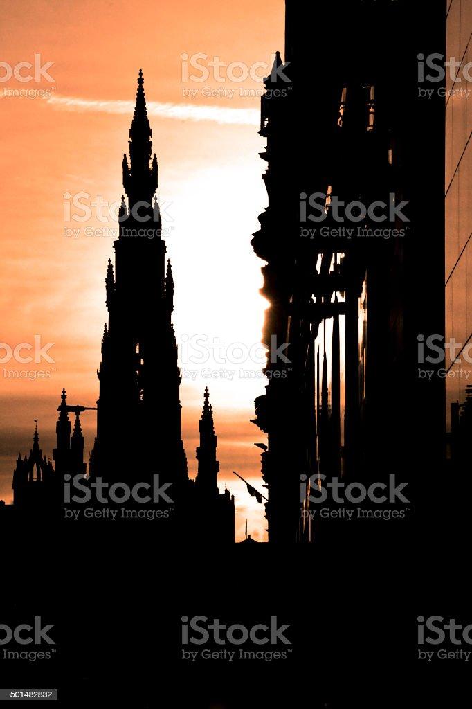 Scott Monument, Edinburgh, Scotland, UK stock photo