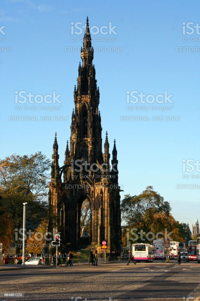 Scott Monument in Edinburgh stock photo