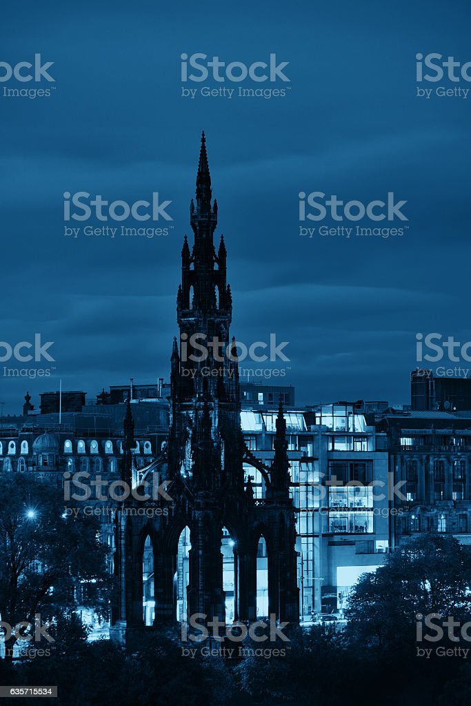 Scott Monument stock photo