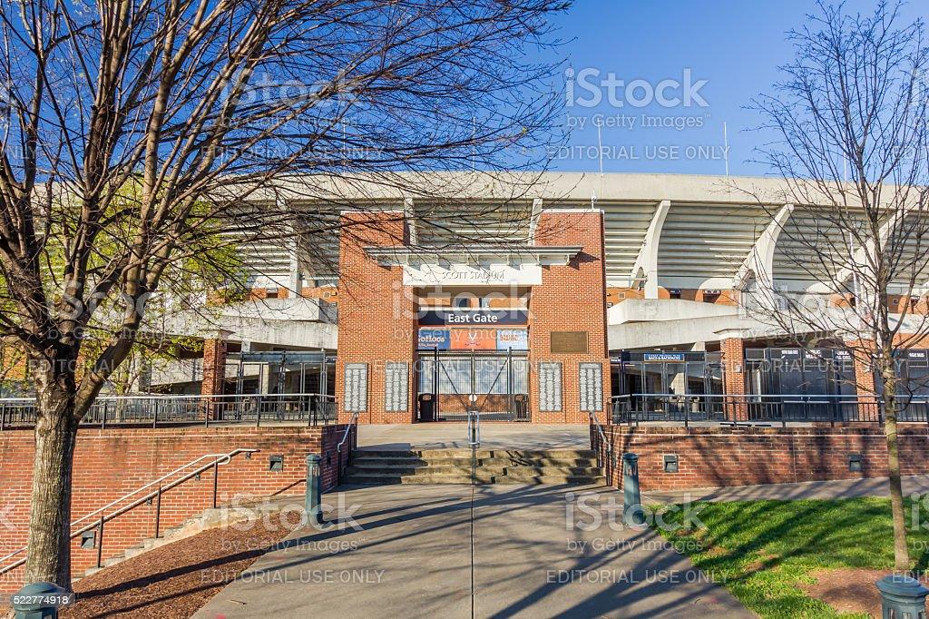 Scott Stadium at UVA stock photo