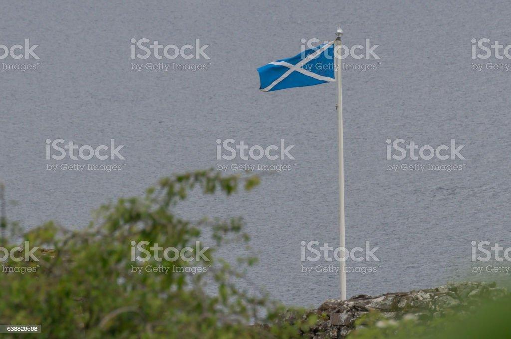 Scottisch flag stock photo