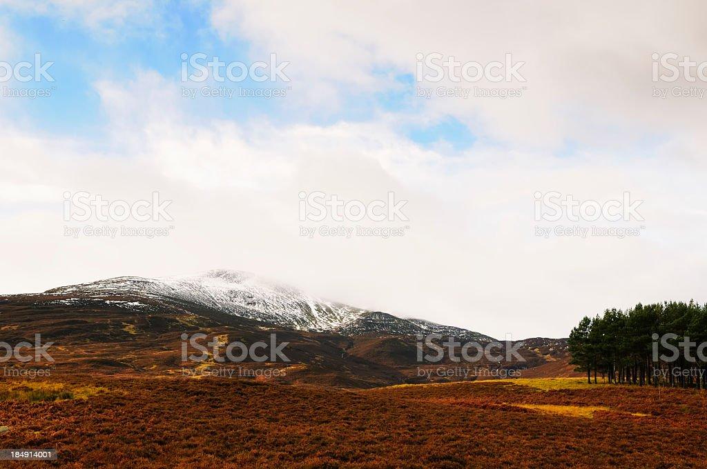 Scottish autumn Landscape stock photo
