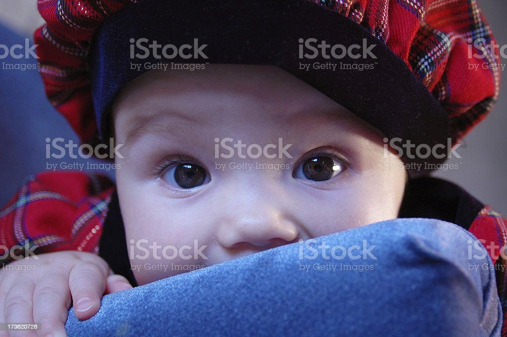 Scottish Baby royalty-free stock photo
