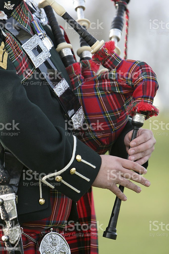Scottish  Bag Piper royalty-free stock photo