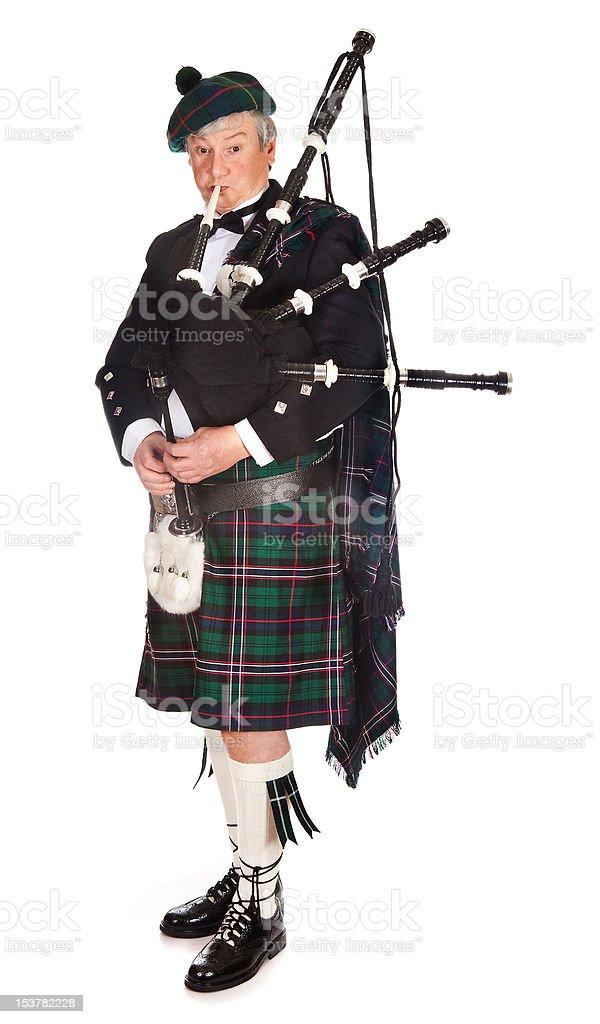 Scottish bagpipes stock photo