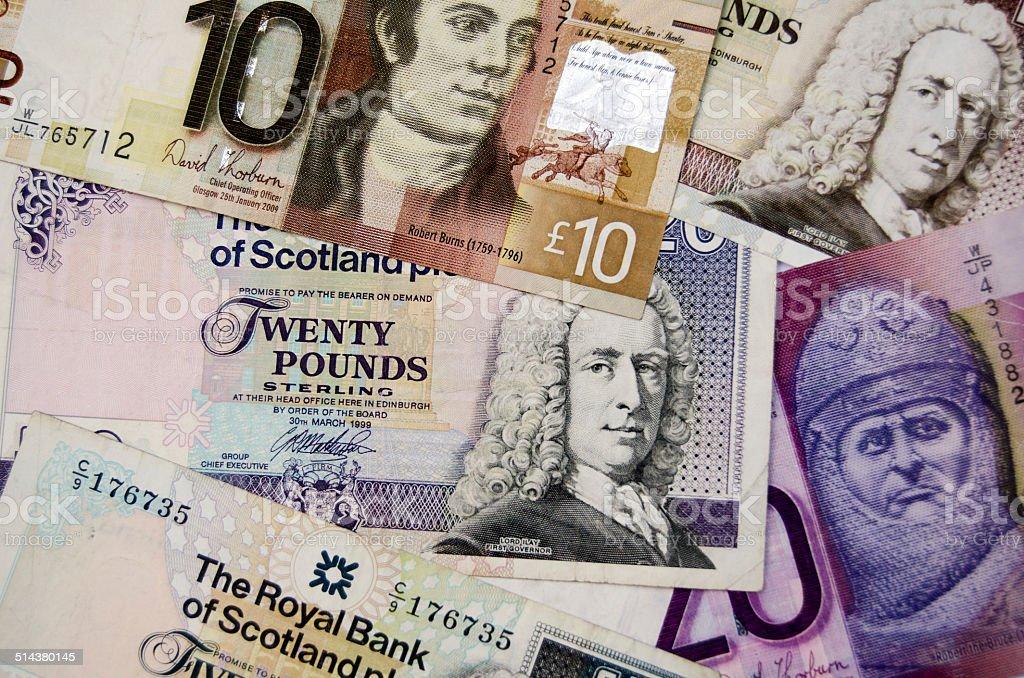 Scottish Banknotes stock photo