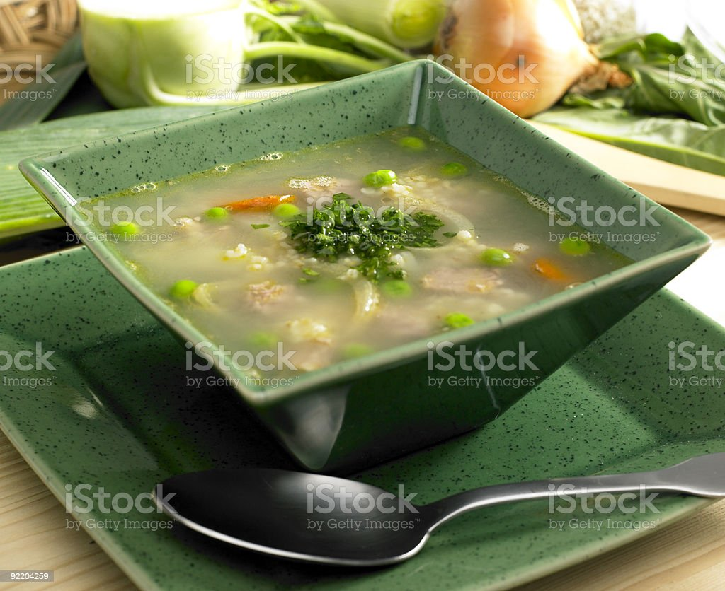 Scottish barley soup stock photo