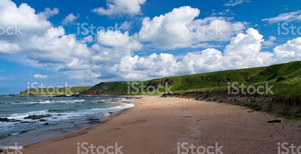 Scottish Beach in Summer royalty-free stock photo