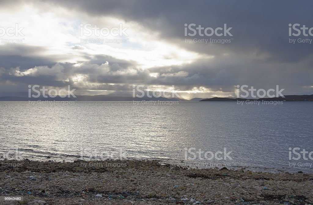 scottish beach with pebbles royalty-free stock photo