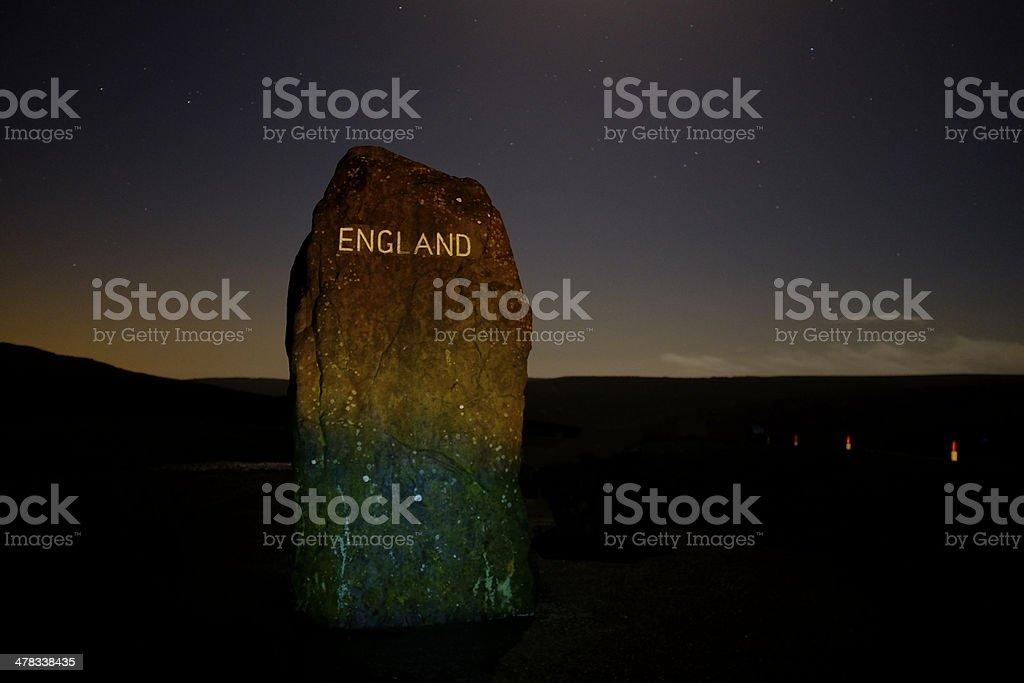 Scottish Border Marker stock photo
