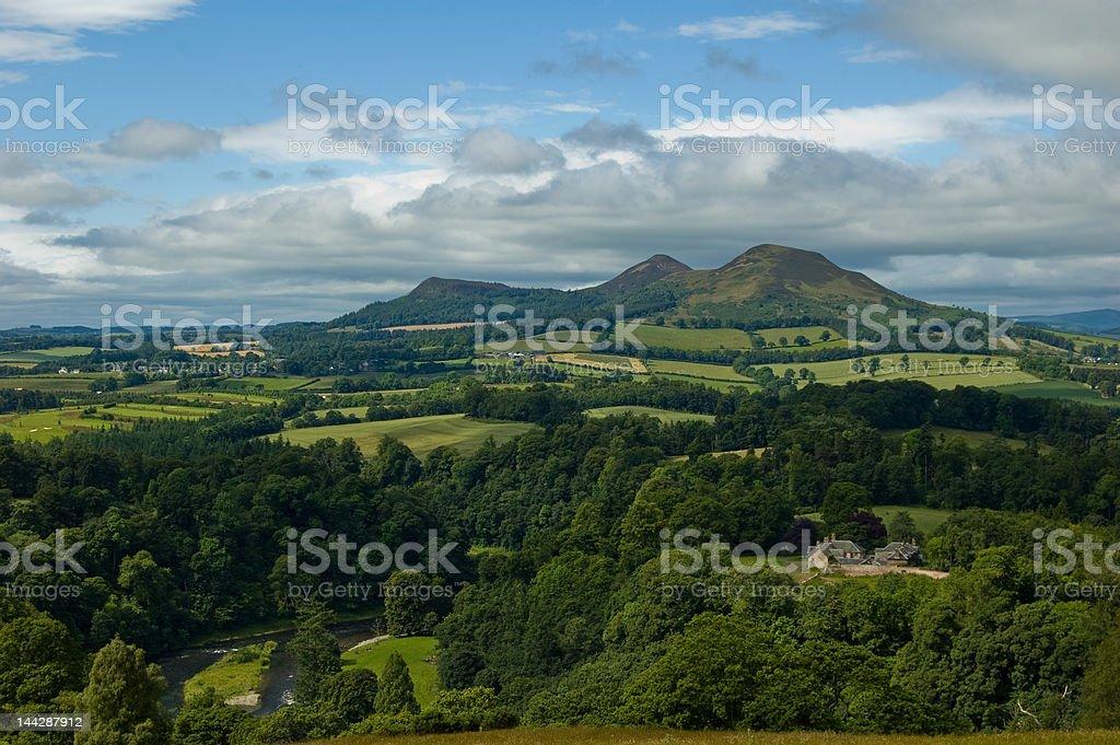 Scottish Border Scenery royalty-free stock photo