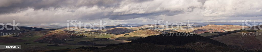 Scottish Border's windfarm landscape royalty-free stock photo
