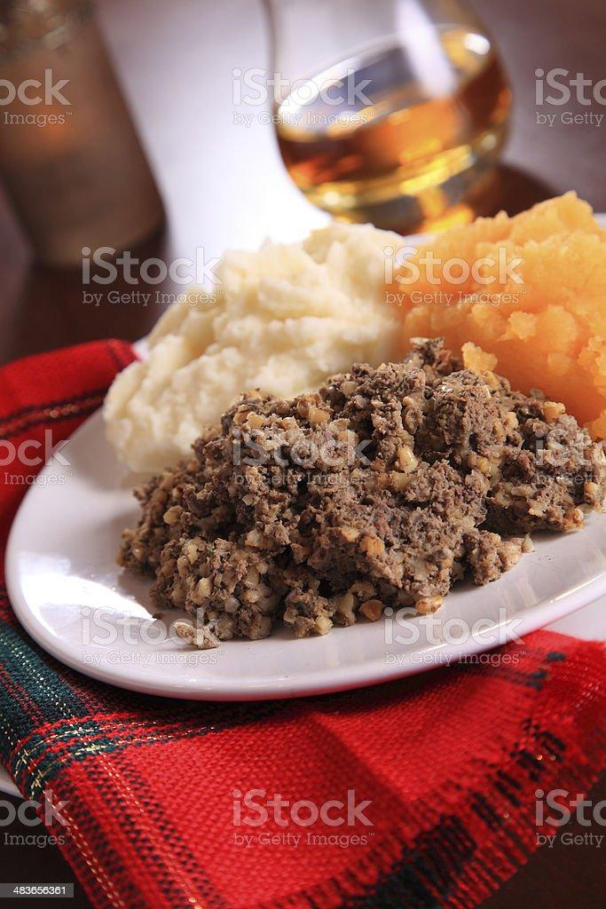 Scottish Burns Night Dinner stock photo