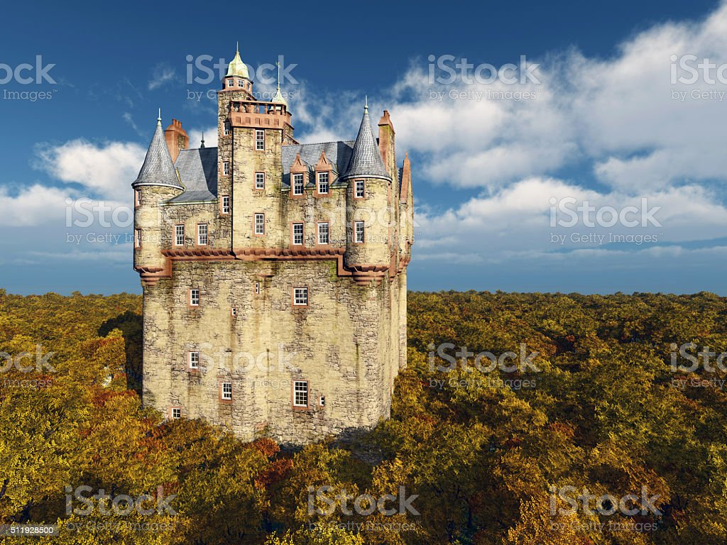 Scottish castle stock photo