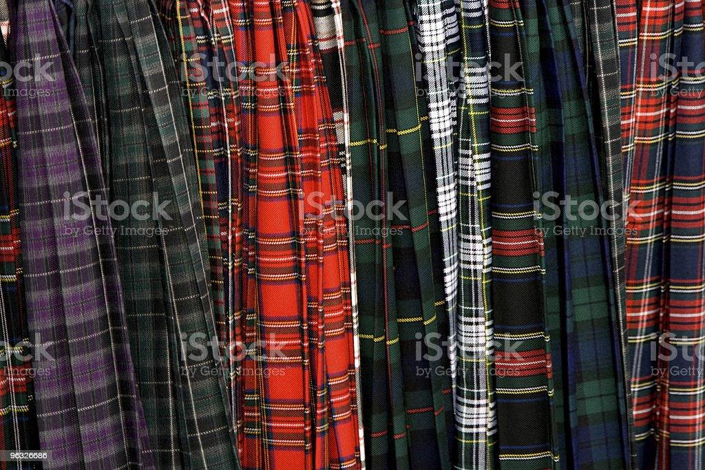 Scottish Clan Tartans royalty-free stock photo
