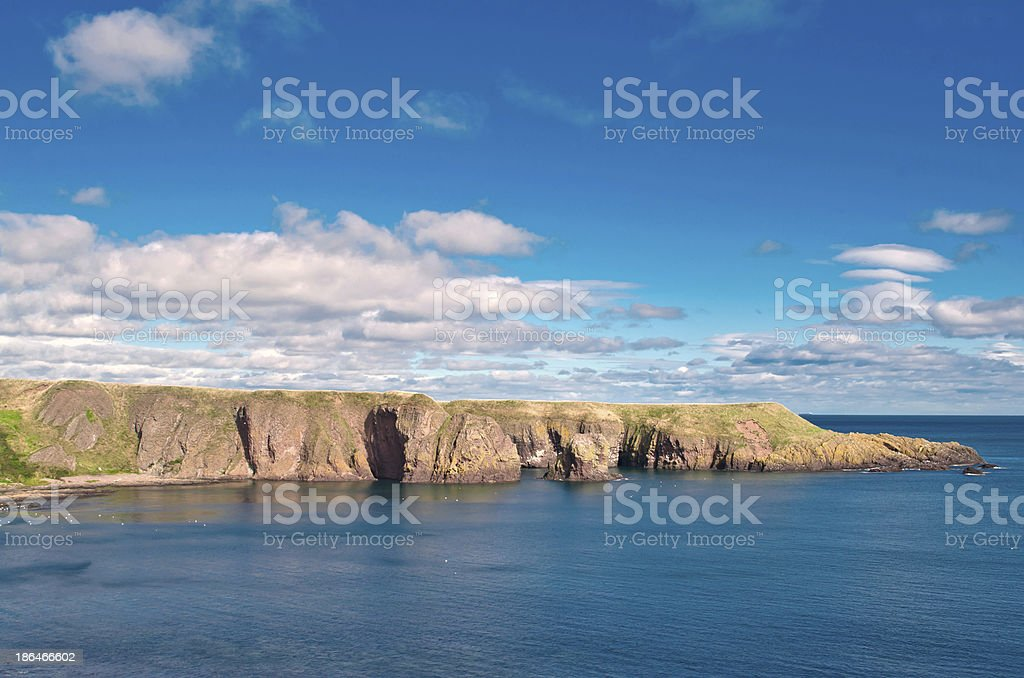 Scottish cliff stock photo