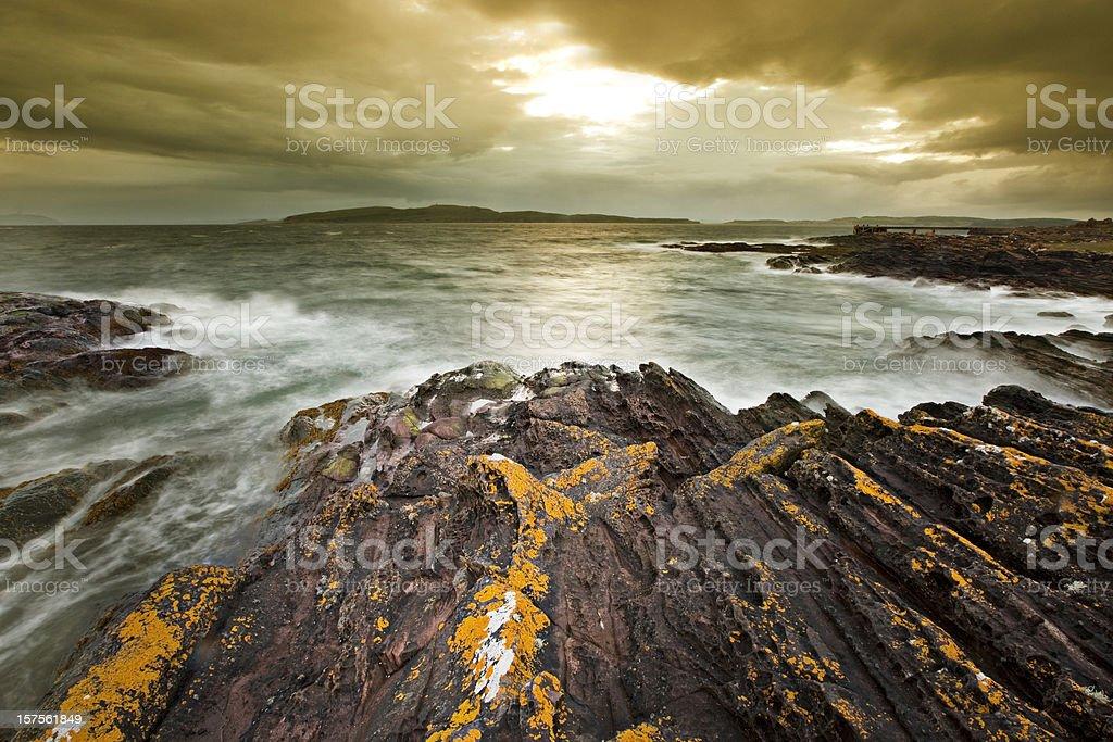 Scottish Coast royalty-free stock photo