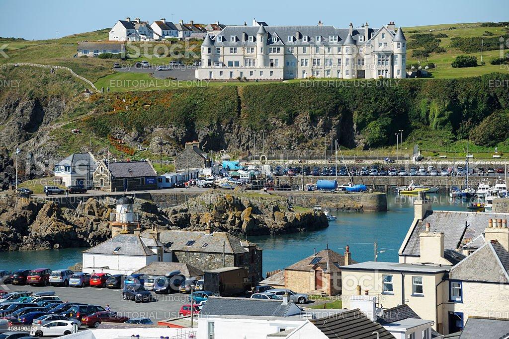Scottish coastal fishing village with harbour stock photo