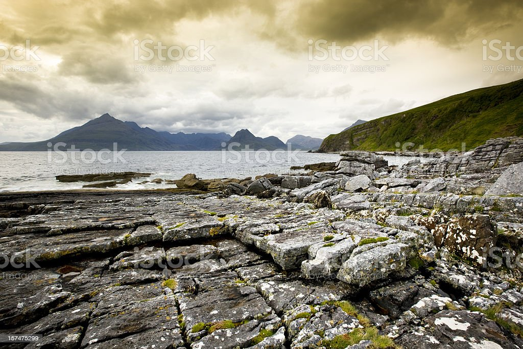 Scottish coastline royalty-free stock photo