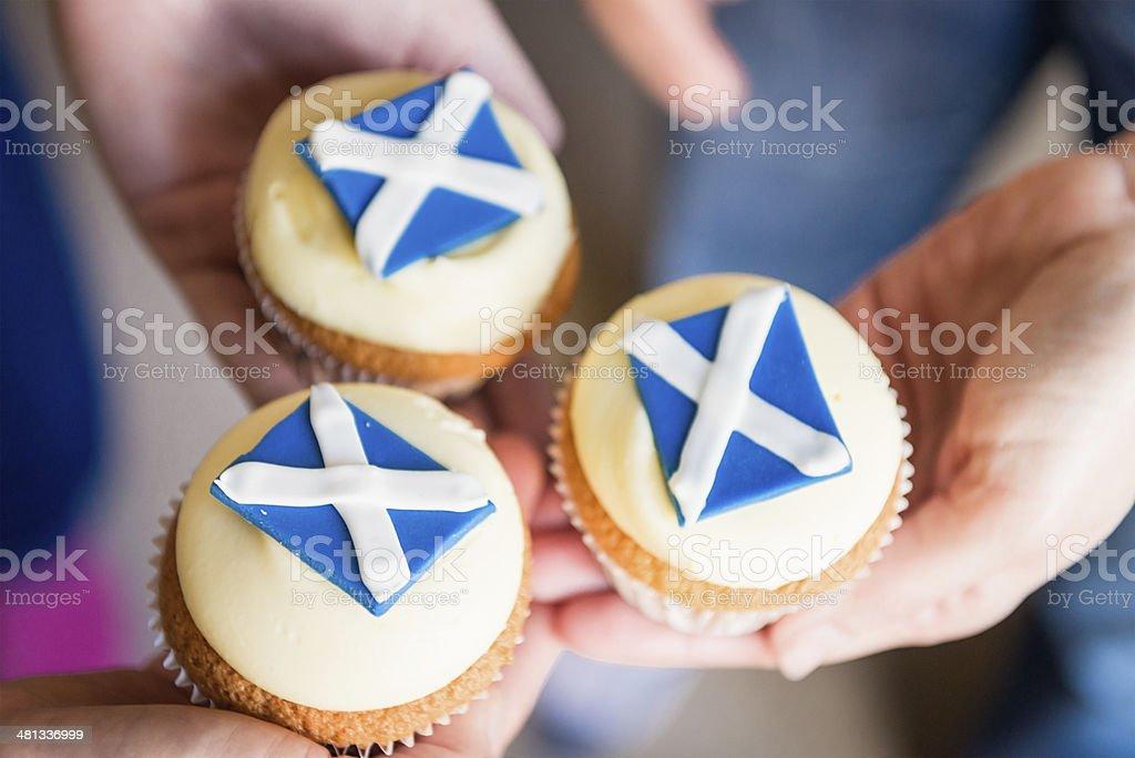 Scottish Cupcakes stock photo