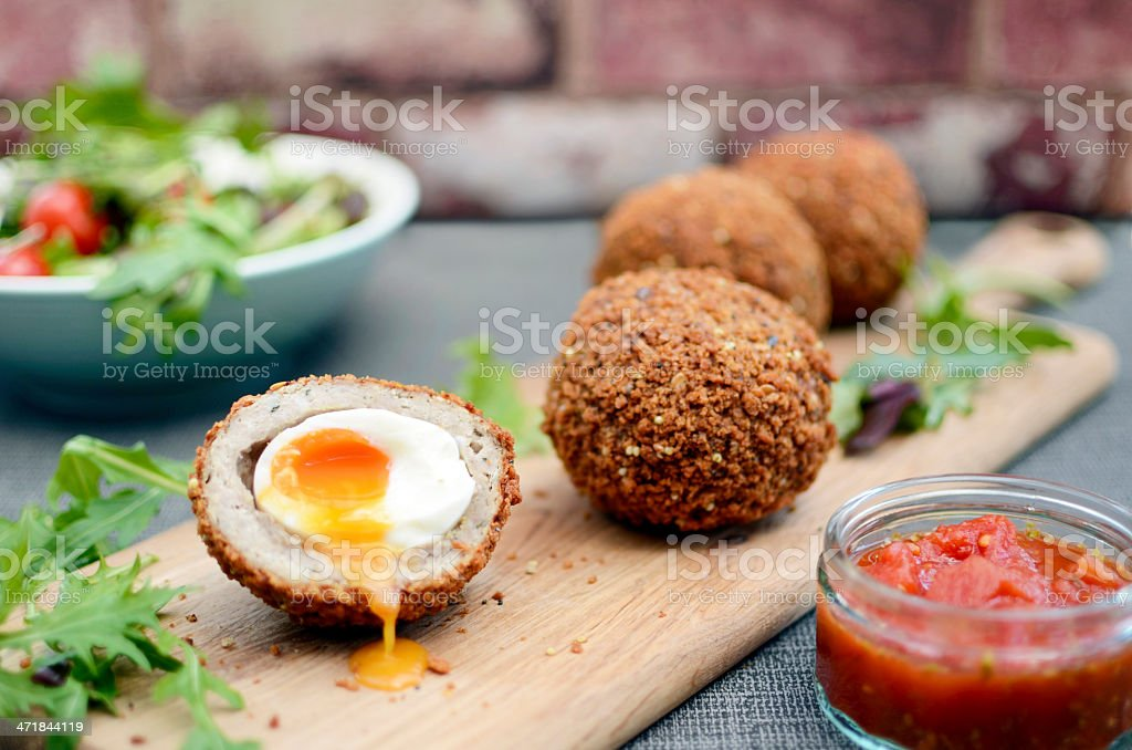 Scottish eggs stock photo