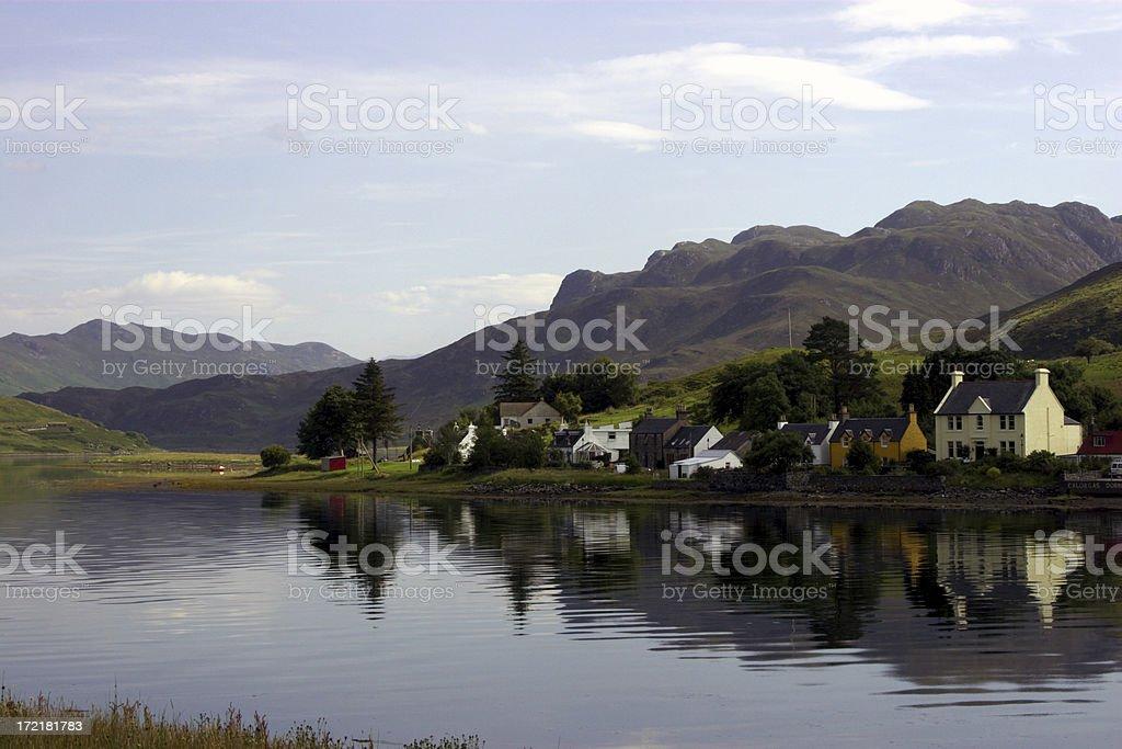 Scottish Fishing Village royalty-free stock photo