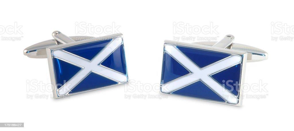 Scottish Flag cufflinks stock photo