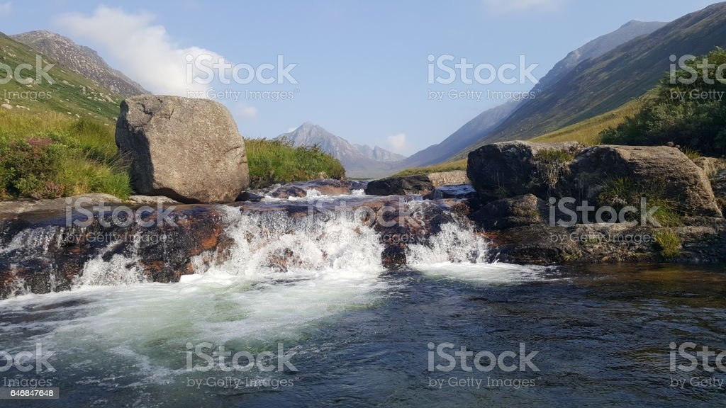 Scottish glen stock photo