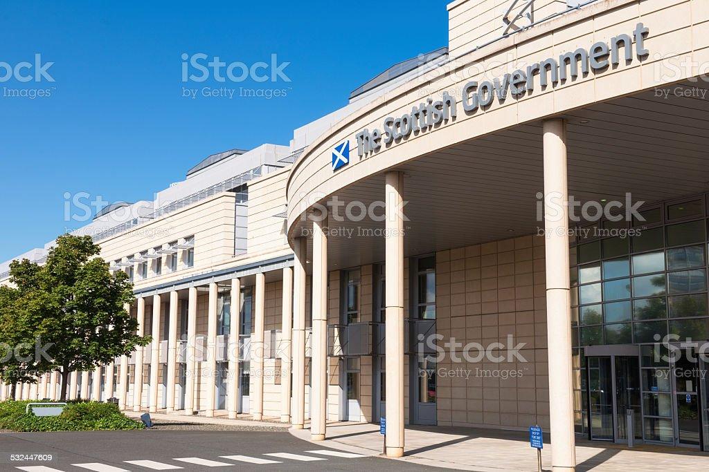Scottish Government building in Leith, Edinburgh stock photo